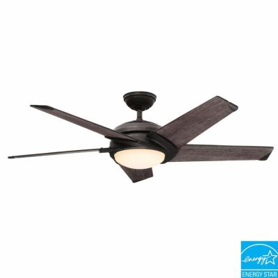 Stealth 54 in. Aged Steel Ceiling Fan